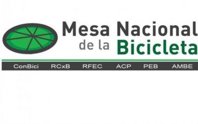 La Mesa Nacional de la Bicicleta se adhiere a nuestra campaña